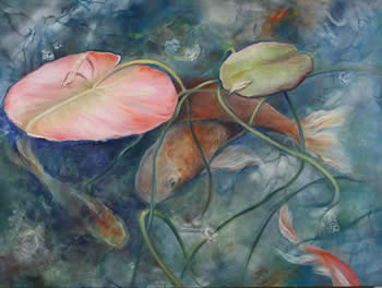 Nanci Hersh paintings at Station Gallery