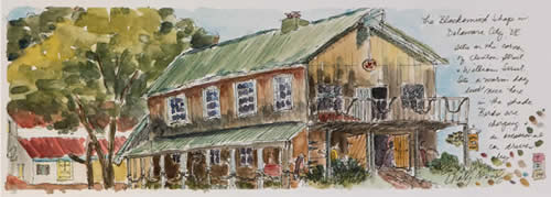 Rosemary Connelly watercolors at Station Gallery
