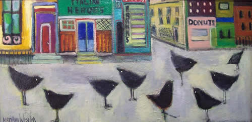 Mary Ann Weselyk paintings at Station Gallery