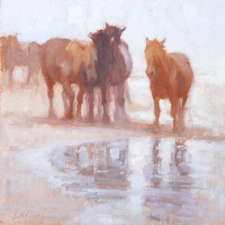 Lynne Lockhart paintings at The Station Gallery