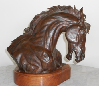 John Griffith bronze sculpture at Station Gallery