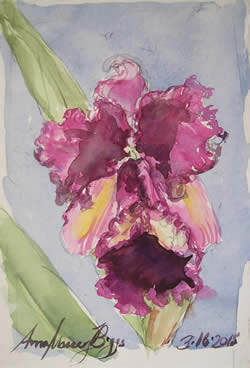 Anna Massey Biggs watercolors at Station Gallery