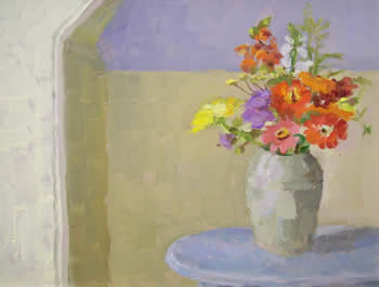 Virginia Jacobs paintings at Station Gallery